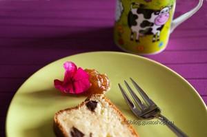 Plumcake al cioccolato fondente Belizze con confettura di pere e susine selvatiche della Val d'Agri